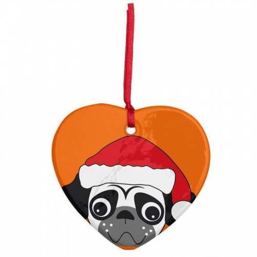 Betty Toddy - Unique Heart Shaped Pug Tree Decorations