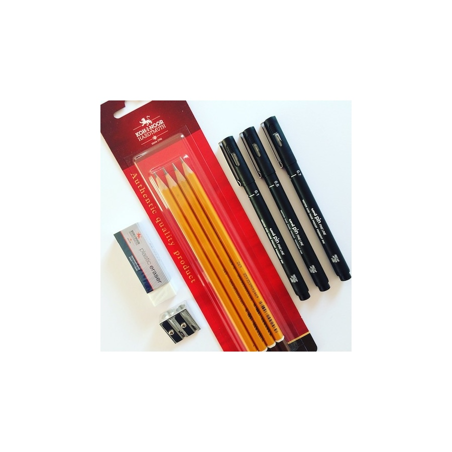 pencil_set_fineliners_rubber_and_sharpener